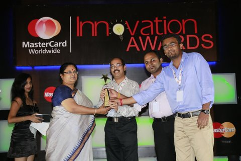 """MasterCard innovation Award - 2013 - Federal Bank was awarded the """"MasterCard innovation Award"""" for the second year in a row, having won it for the first time in 2013."""