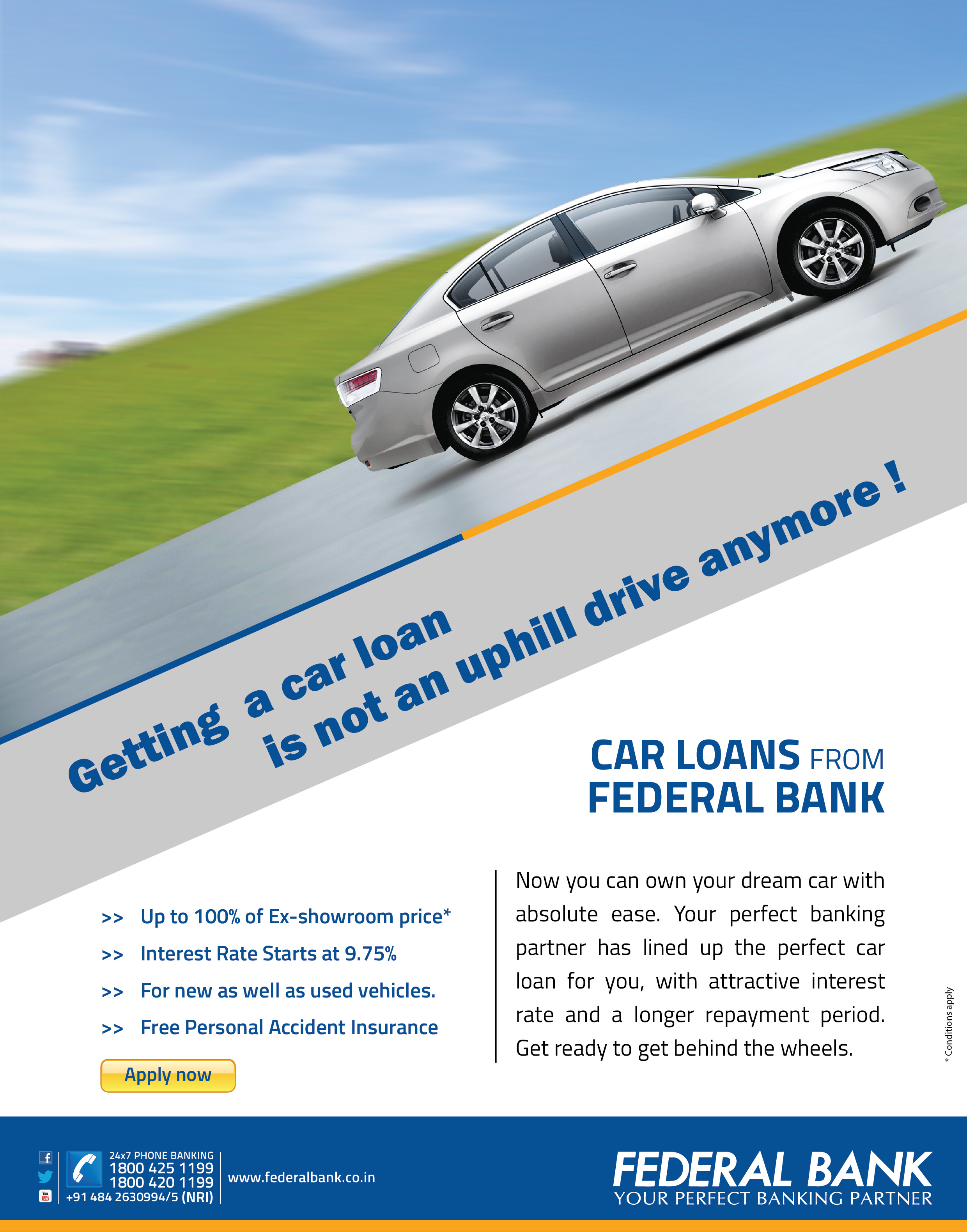 Best Car Loan in India, Car Loan Interest Rate - Federal Bank