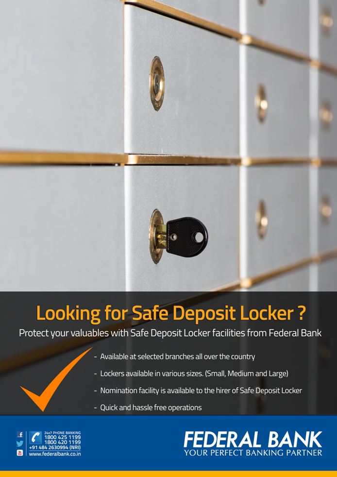 Safe Deposit Locker - Federal Bank