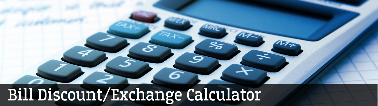 Federal Bank - Bill Discount Calculator