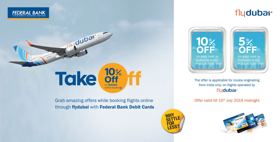 flydubai Offer for Federal Bank Customers