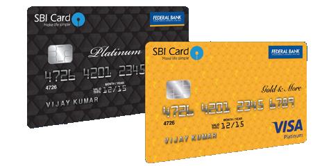 Federal Bank SBI - VISA Gold 'N More