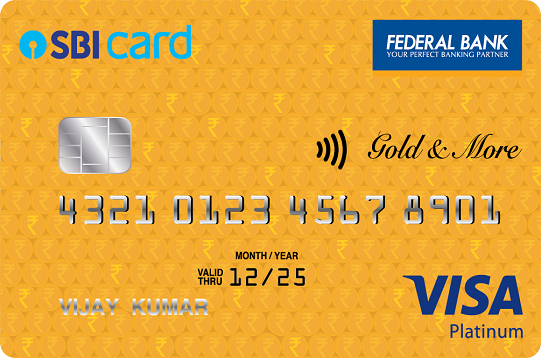 Federal Bank SBI Visa Gold 'N More