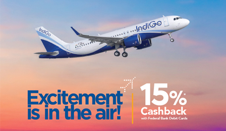 Federal Bank - Indigo Flight Booking Offer