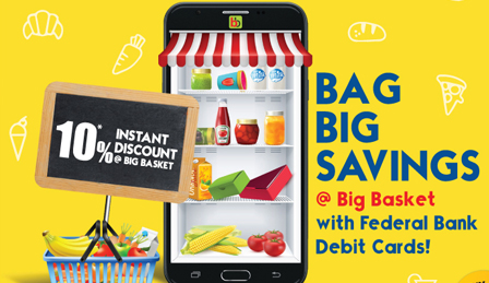 Federal Bank - Big Basket Shopping Offer
