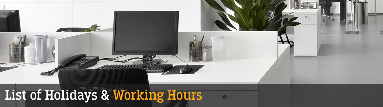 Federal Bank - List Of Holidays - Working Hours