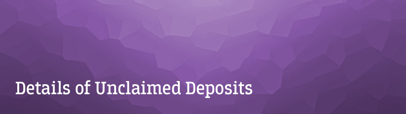 Federal Bank - Unclaimed Deposit Details
