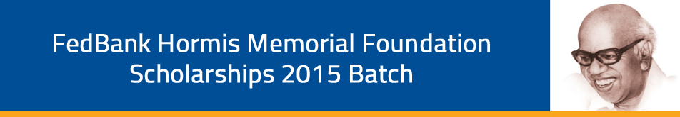 Fedbank Hormis Memorial Foundation Scholarships 2014 Batch